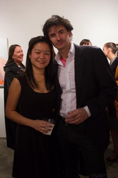 Curators Tmas Veszi and Eileen Jeng