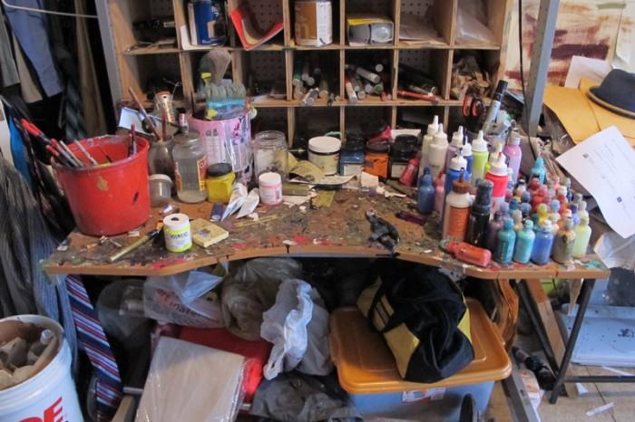 Kimyon Huggins' studio