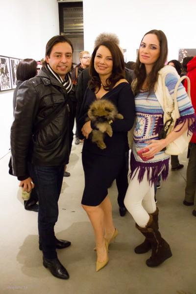 AF publisher Jamie Martinez with Fran Drescher at Steven Kasher Gallery