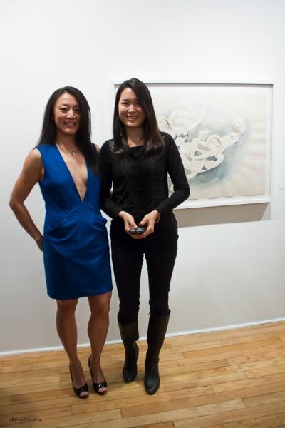 Artist Fay Ku (L) with Curat