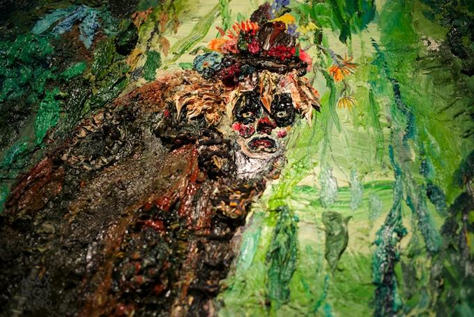 Close Up detail of work by Allison Schulnik
