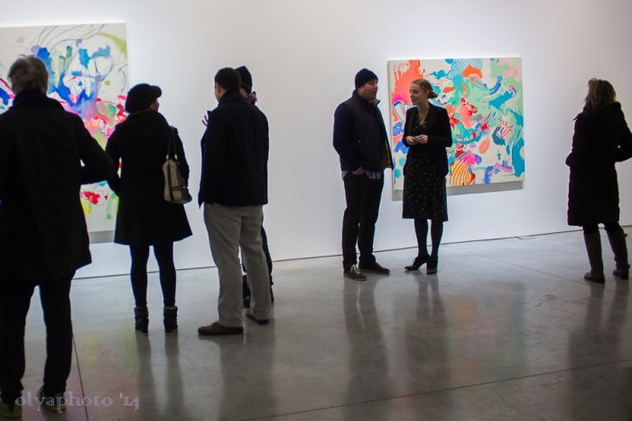 Gathered to see the ART at 303 Gallery