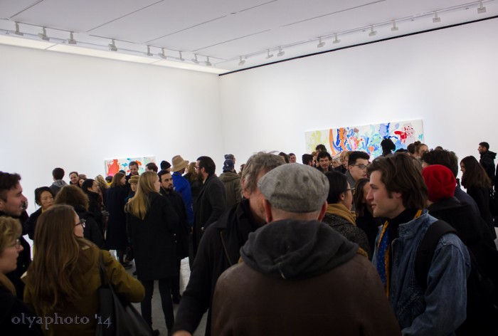 The packed house at 303 Gallery