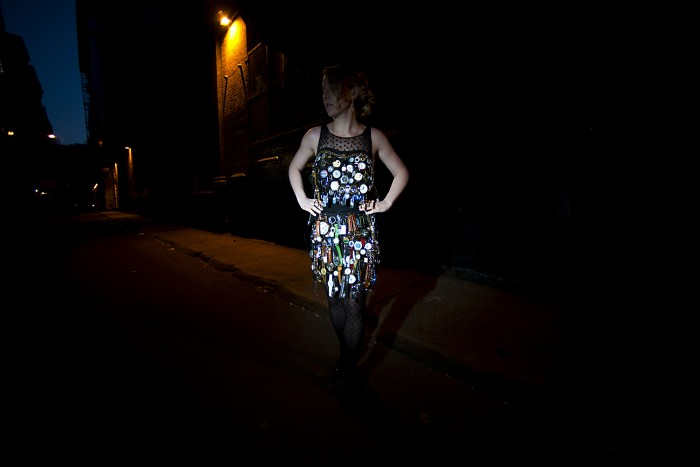 A Night Shot of Kiss The Dark dress by Laura Mylott Manning