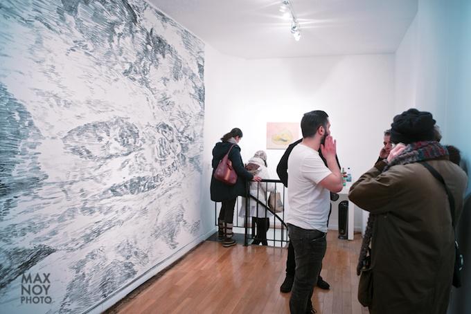 An entire wall installation by Paulo Brighenti