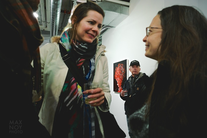 Art night is great to catch up with people