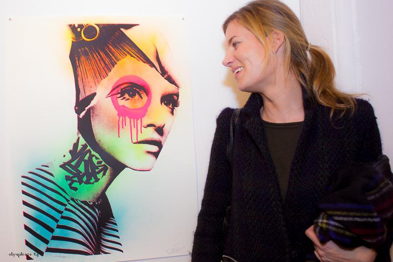 Artist Beatriz Elorza mugging it for AF at #Folioleaf