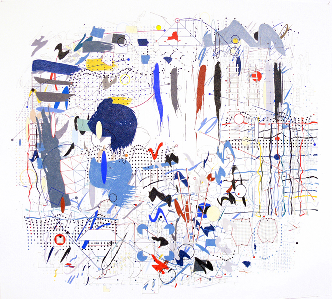 """""""Relativity"""" drawings by Paul Glabicki at Kim Foster Gallery (Chelsea)"""