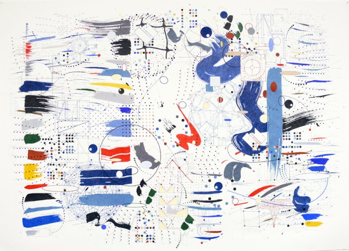 """Relativity"" drawings by Paul Glabicki at Kim Foster Gallery (Chelsea)"
