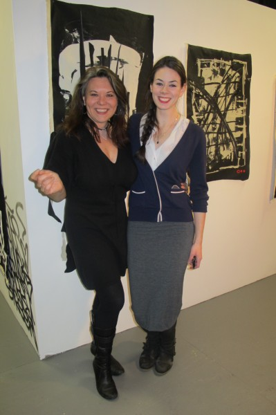 Curator Alison Pierz with Trestle Gallery manager Mary Negro