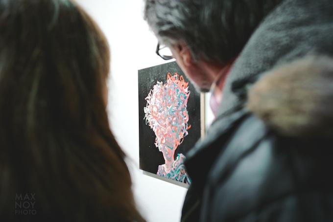 People framed the work of Deborah Brown at Lesley Heller Workspace