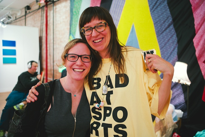 Girls who wear glasses have the most fun at Art Fairs