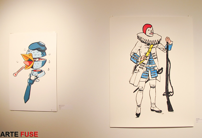 (L-R) Art by Alessandro Echevarria and Clown Soldier