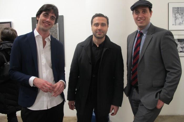 (L-R) Francisco Lecci (Artribune U.S. contributor), Artist Antonio Pio Saracino and Alessandro Berni (Director)