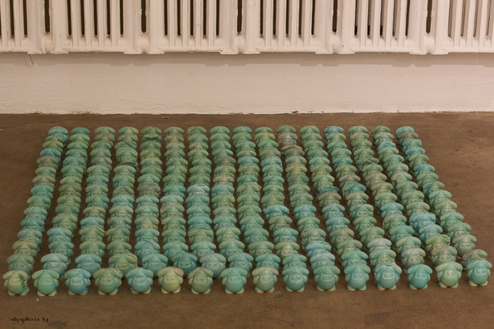 Little Green Men Thingys invade CLIO Art Fair