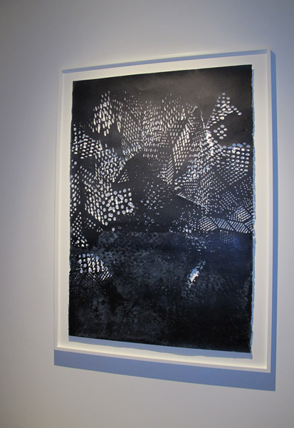 James Scott UNTITLED, 2013 Acrylic, sumi ink, and rice paper on laser cut paper, 61 x 41 inches