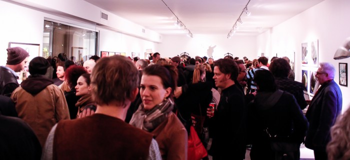 Full House at the opening for Default World Dreaming at Gallery 151