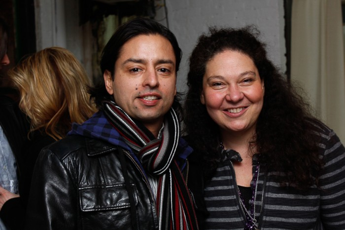 (L-R) Artist and publisher Jamie Martinez and Olya Turcihin
