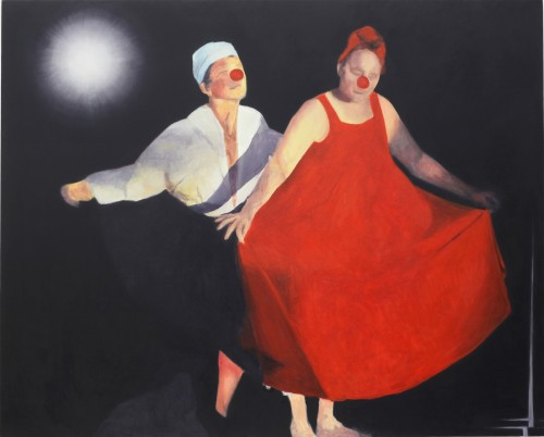 Untitled (clown dance), 2012-13 by Jordan Kantor (oil on canvas 58 x 72 inches)