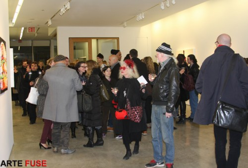 Art crowd in full force at Claire Oliver Gallery
