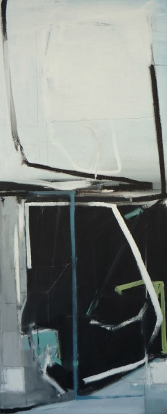 Rim by Emilia Dubicki, 15 x 36 inches, oil on canvas