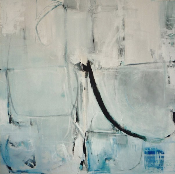 Sounding Line by Emilia Dubicki 56x 56 inches, oil on canvas
