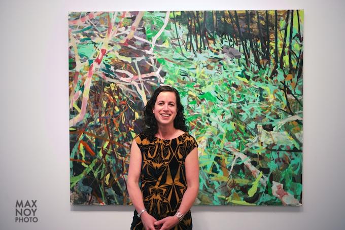 Artist Allison Gildersleeve at her opening