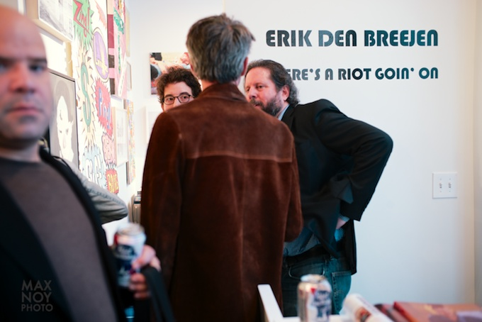 Opening night for Erik den Breejen at Freight and Volume Gallery