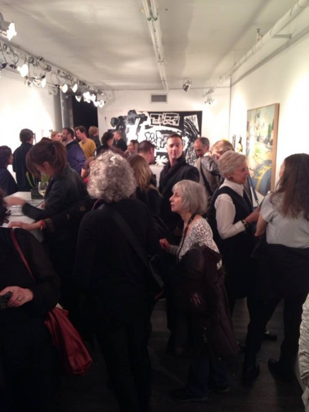 Opening night for NO CITY IS AN ISLAND at The Lodge Gallery