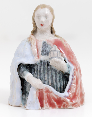 Mary Magdalene, 2014 glazed porcelain 4 x 3 x 2.5""