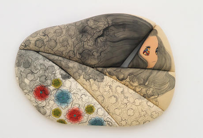 Ai Yamaguchi omou koto Acrylic on cotton, panel 2014 20 x 28 x 3 inches / 51 x 71 x 7 cm