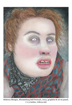 Bloomsburg Self Portrait by Rebecca Morgan graphite & oil on panel 7 x 5 inches