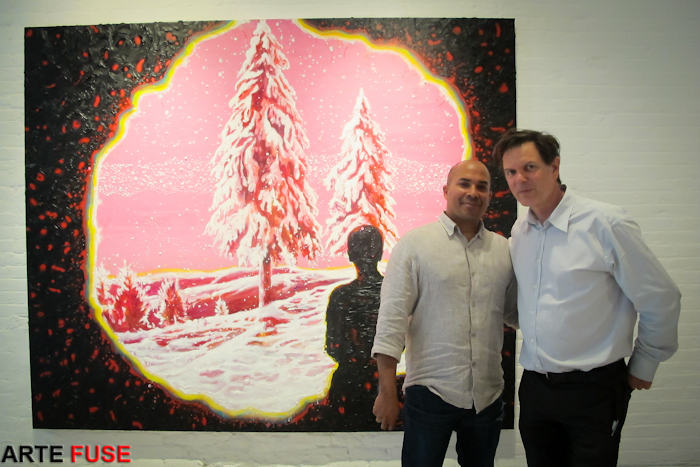 Artist Armando Marino with Gallerist Thomas Jaeckel