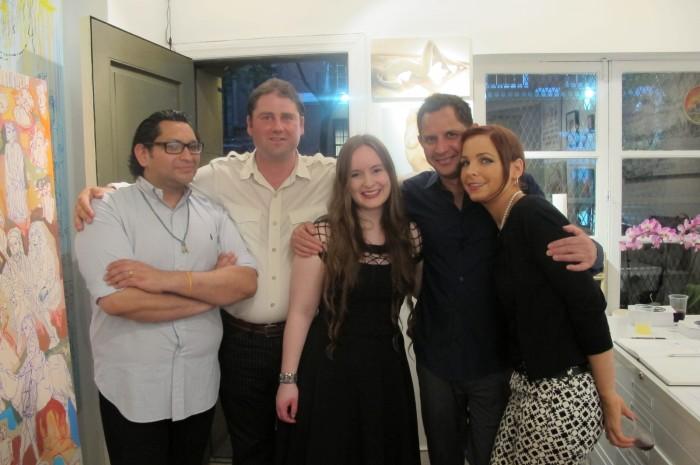 (Left) Co-Director Rene  Melchore,  (center) Co-Director Meghan Girard and artist Renelio Marin
