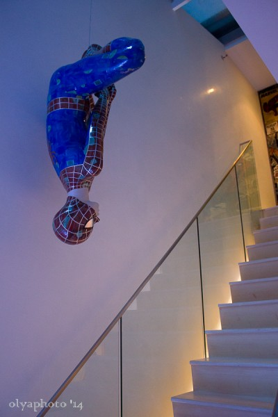 Spiderman gets into the art event