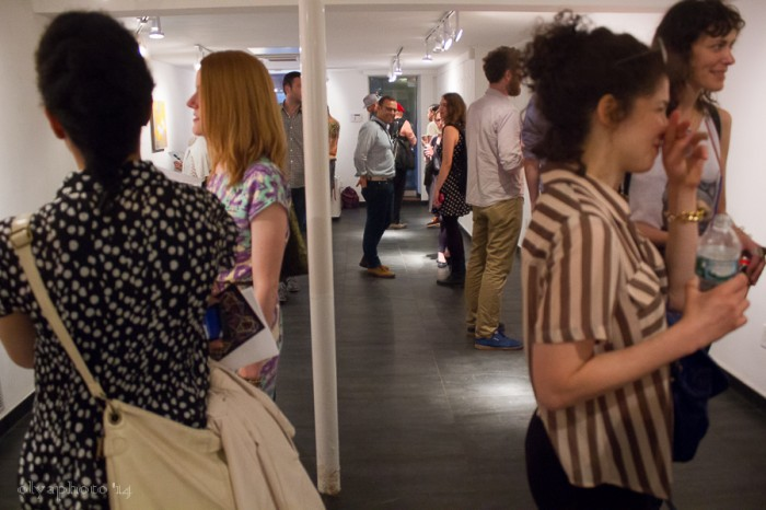 The art crowd at Brian Morris Gallery
