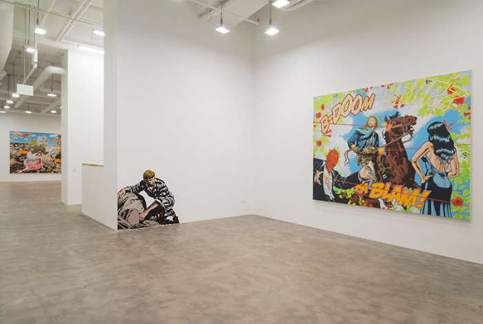 Jerry Kearns/ RRGGGHHH!!! / Installation view/Mike Weiss Gallery/2014
