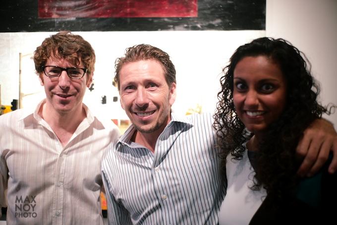 Chelsea Art Walk 2014 with Bertrand Delacroix (center)