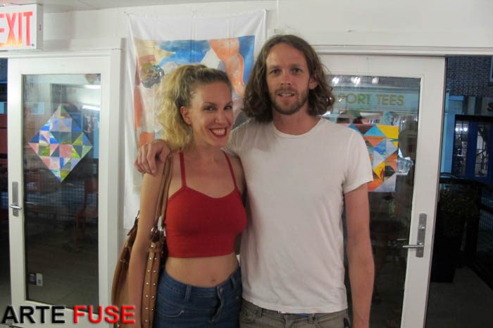 (L-R) Artists Monique Mantell and Taylor McKimens