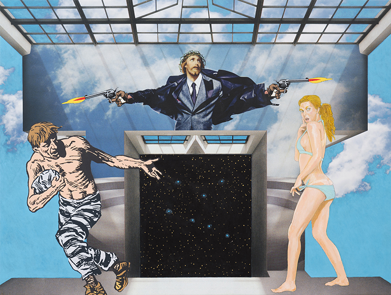 Jerry Kearns Heaven's Gate, 2014 Pigment print and acrylic on canvas 36 x 48 inches