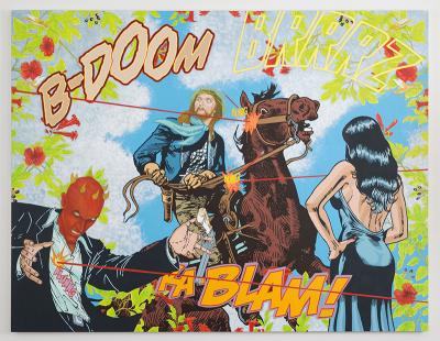 Jerry Kearns BAM BAM, 2010-2013 Acrylic on canvas 72 x 92 inches JK-005