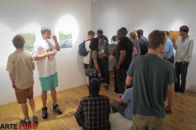 Art lovers come out in the summer in Chelsea to cool down with art