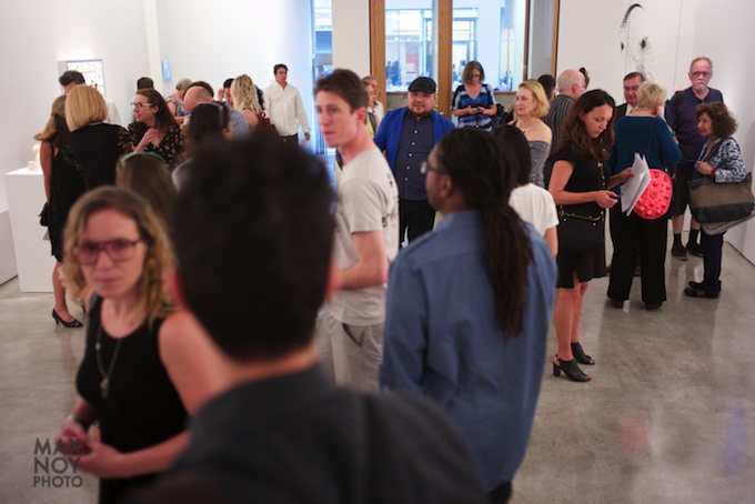 The art crowd in Chelsea at Claire Oliver Gallery