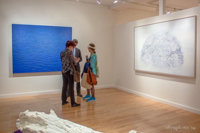 The electric backdrop of art at Joseph Gross Gallery