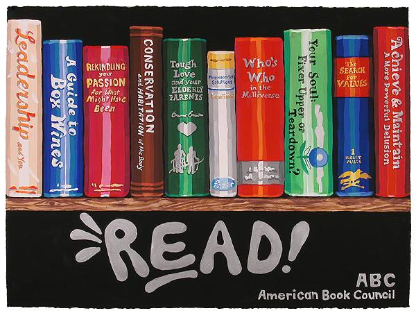 Read! American Book Council Poster, 2014 Casein on paper 22 x 30 inches