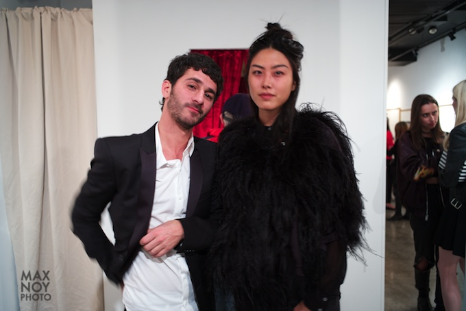 Artist Julien Levy (L) with one of his muse