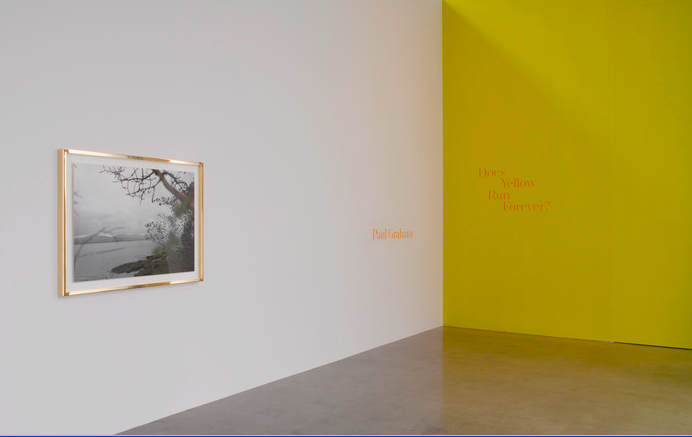 Installation View Does yellow run Forever Credit 2014 Paul Graham, Pace Gallery and Pace_MacGill Gallery