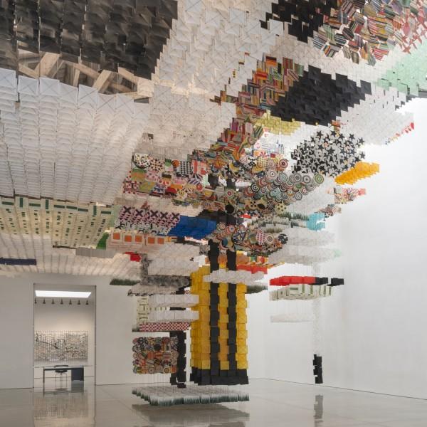 Jacob Hashimoto: Skyfarm Fortress at Mary Boone Gallery