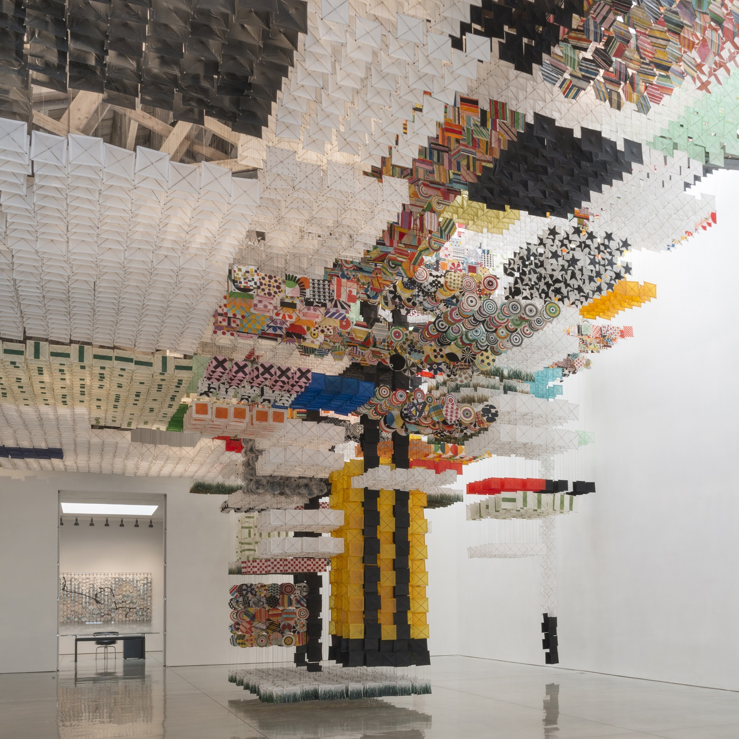 Jacob Hashimoto: Skyfarm Fortress at Mary Boone Gallery