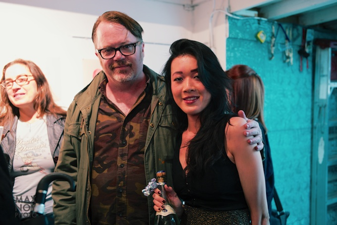 (L-R) Artist Matt Enger with Amy Li